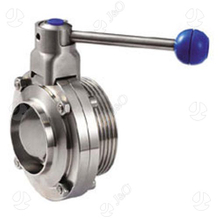 Food Grade Sanitary Stainless Steel Butterfly Valve with Weld Male Ends