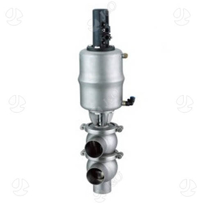 Sanitary SS304 L/L Type Pneumatic Clamped End Divert Valve