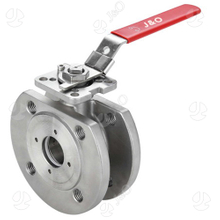 Wafer Type ASME 150lbs Stainless Steel Flanged End Manual Ball Valve