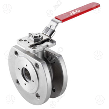 ASME 150lbs Wafer Type 304 316L Ball Valve with Direct Mounting Pad