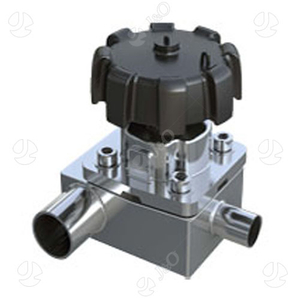 Sanitary SS304 Manual 3 Way Reducer Diaphragm Valve
