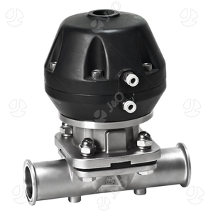 SS304 Hygienic No-retention Pneumatic Pharmacy Clamped Diaphragm Valve