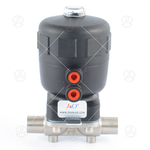 Hygienic Stainless Steel Welded Type Diaphragm Valve With Pneumatic Actuator